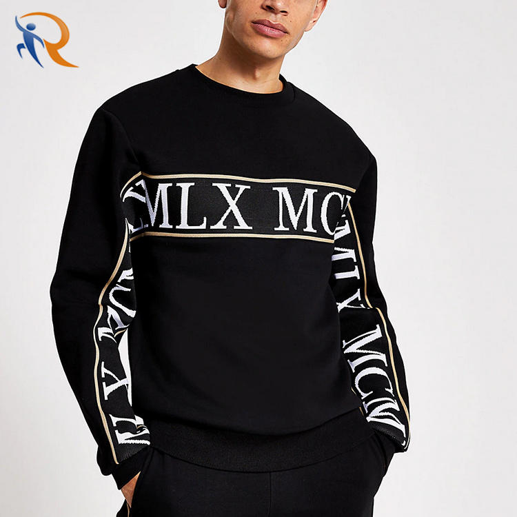 High End Sport Wear Oversized Embroidered Stripped Tracksuit Set Sew Custom Logo Mens Tracksuit