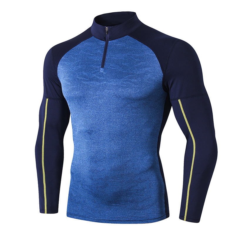 product-Newest Men Gym Clothing Tight Bodybuilding Muscle Fit Sports T Shirt Fitness Running Wear Ha