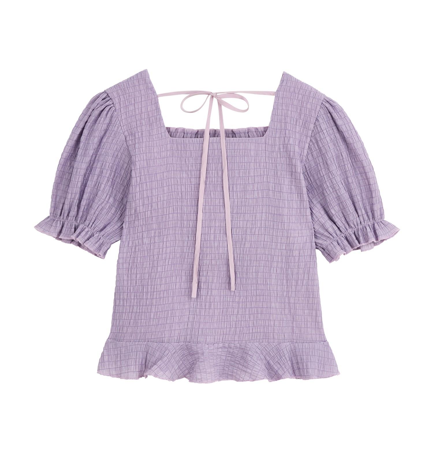product-Ruiteng-Tops For Girls Women Clothing 2021 Amazon Top Seller Chiffon Sweet Square Collar Sho