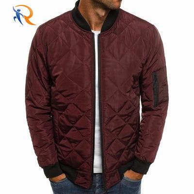 Autumn Winter Men Puffer Jacket Coat Mens Plaid Cotton Padded Clothes
