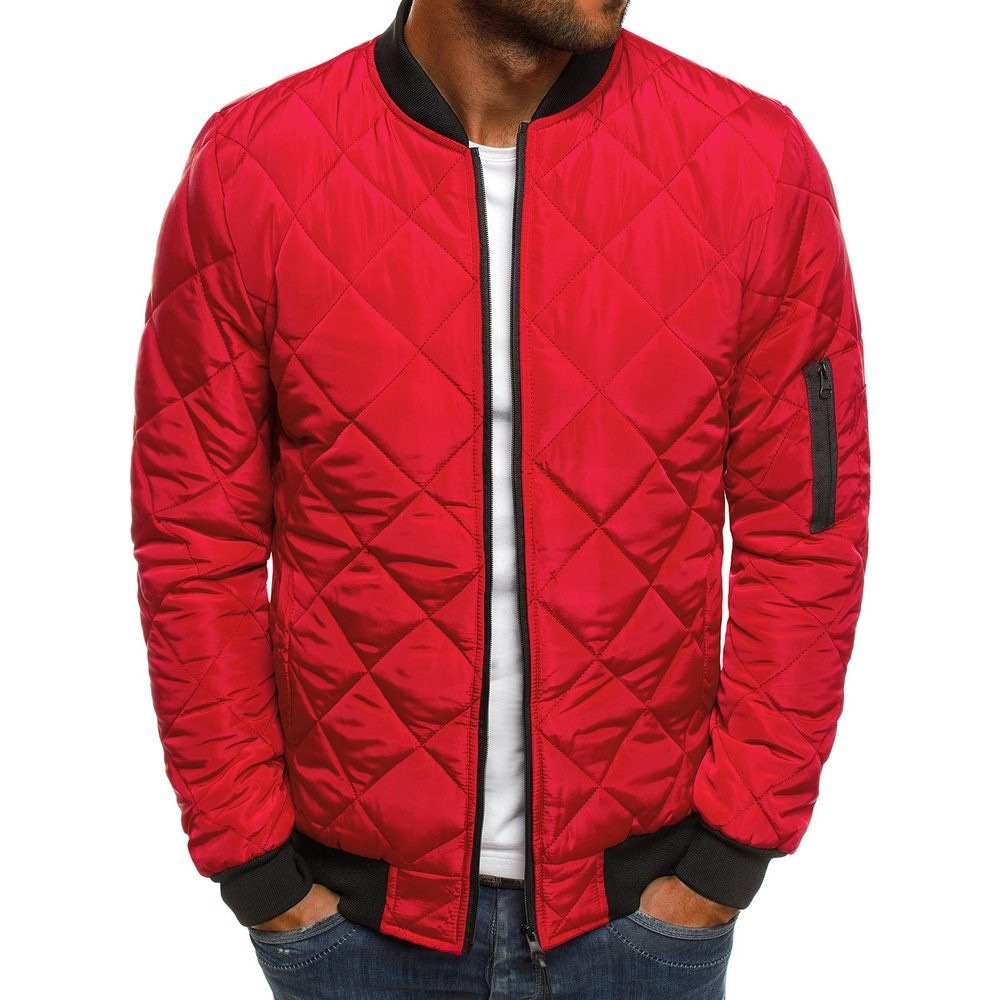 product-Ruiteng-Autumn Winter Men Puffer Jacket Coat Mens Plaid Cotton Padded Clothes-img