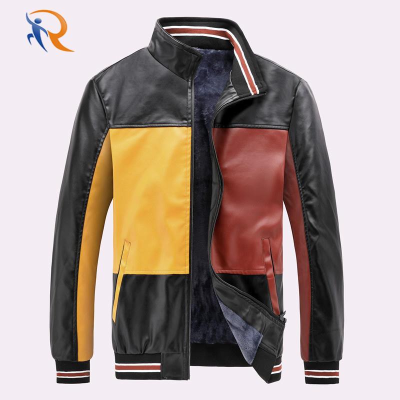 Amazon Quality Winter PU jackets With Velvet Mens Baseball Jacket New Design Motorcycle Jacket
