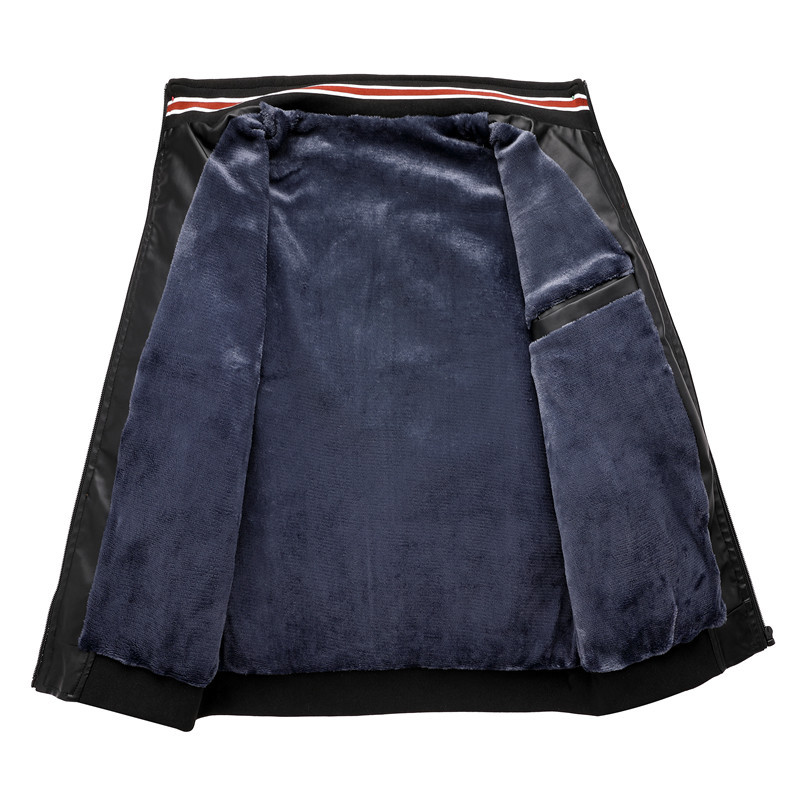 product-Ruiteng-Amazon Quality Winter PU jackets With Velvet Mens Baseball Jacket New Design Motorcy