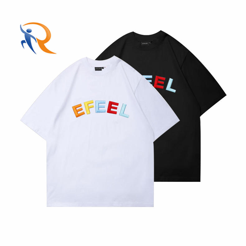 OEM Customize Logo Mens Embroidered Plain Tshirts/Wholesale Cotton O Neck Men's T-shirts In Bulk