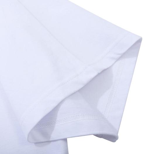 product-OEM Customize Logo Mens Embroidered Plain TshirtsWholesale Cotton O Neck Mens T-shirts In Bu