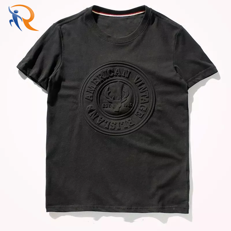 Summer Mens Quality T shirt Fashion 3d Printing Embossed Spandex Men's T-shirts