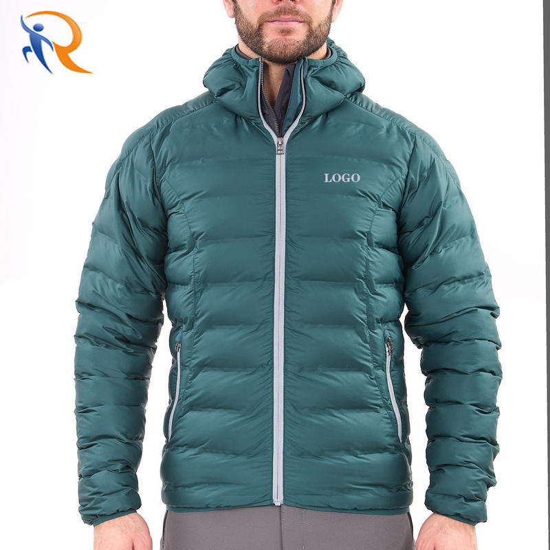 Factory price men's padded winter jackets warm waterproof down jacket for man with recycled fibers