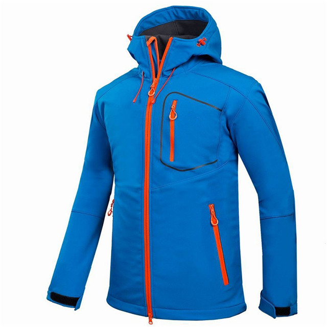 product-Ruiteng-Custom Men Sports Softshell Jackets Grey Outdoor Camping Coats Thermal Waterproof So