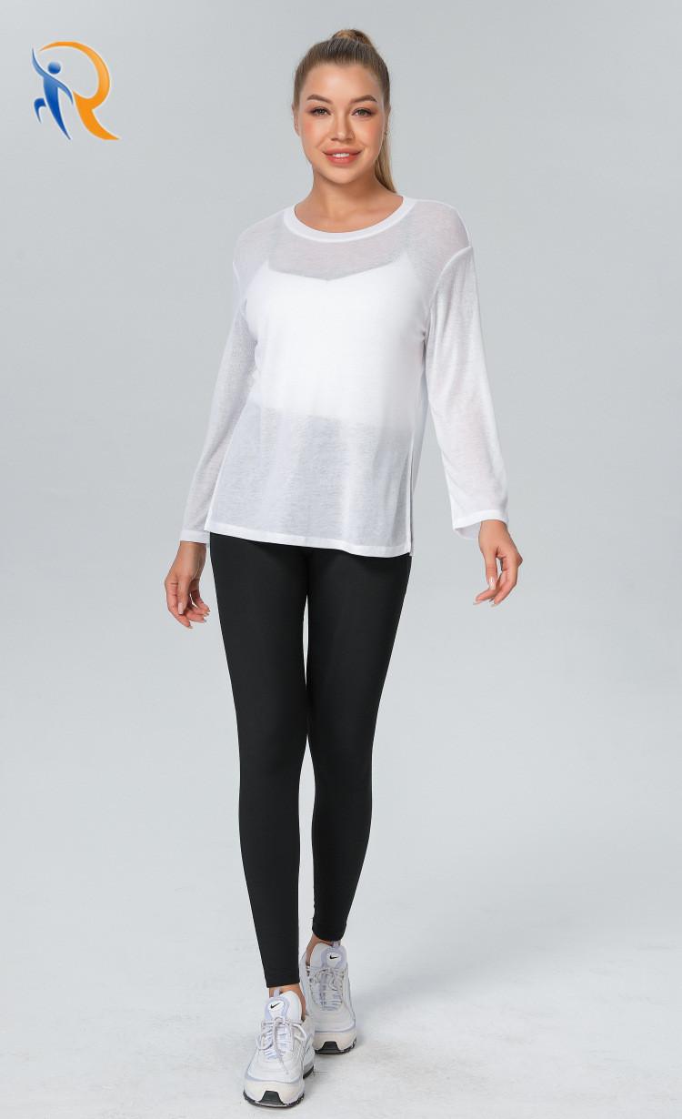 product-Ruiteng-Women Fashion Apparel Trendy Clothing Sports Wear Yoga Shirt Gym Blouses-img