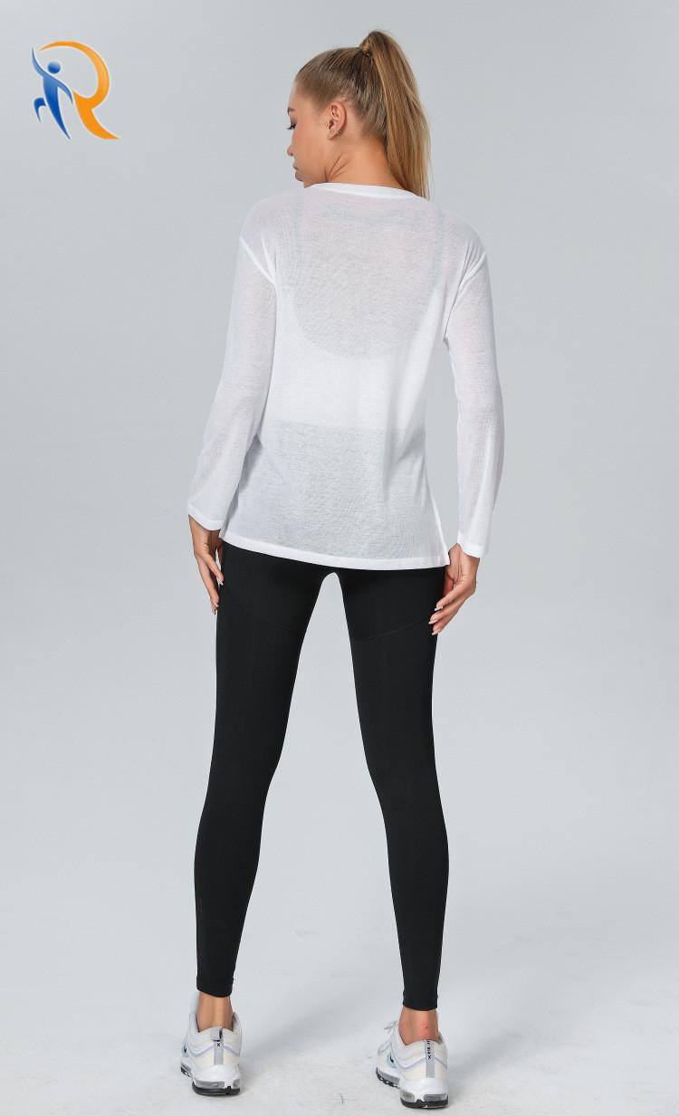 product-Women Fashion Apparel Trendy Clothing Sports Wear Yoga Shirt Gym Blouses-Ruiteng-img