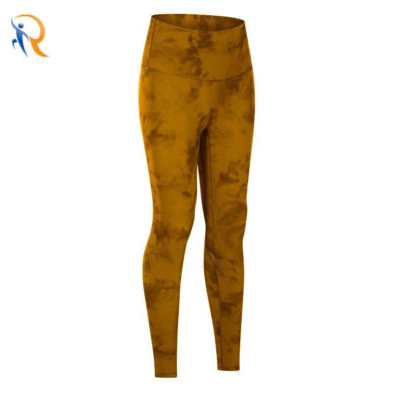product-Ruiteng-Women Tie-Dye Fitness Pants Comfy Yoga Leggings-img