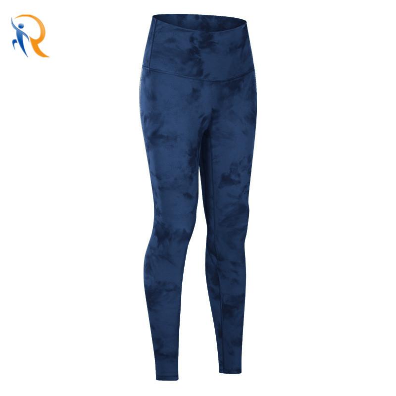 product-Women Tie-Dye Fitness Pants Comfy Yoga Leggings-Ruiteng-img