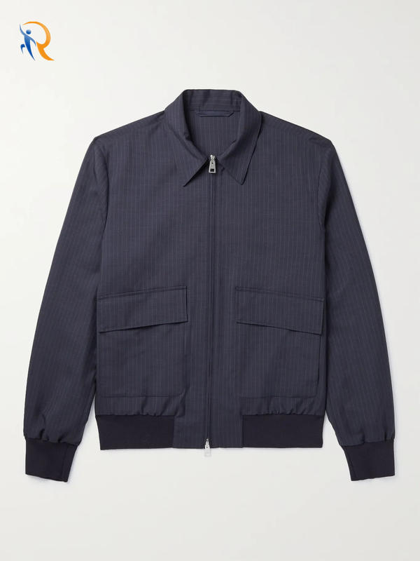 Fashion Wholesale Pinstriped Blouson Jacket for Men 2022 Jkt-033