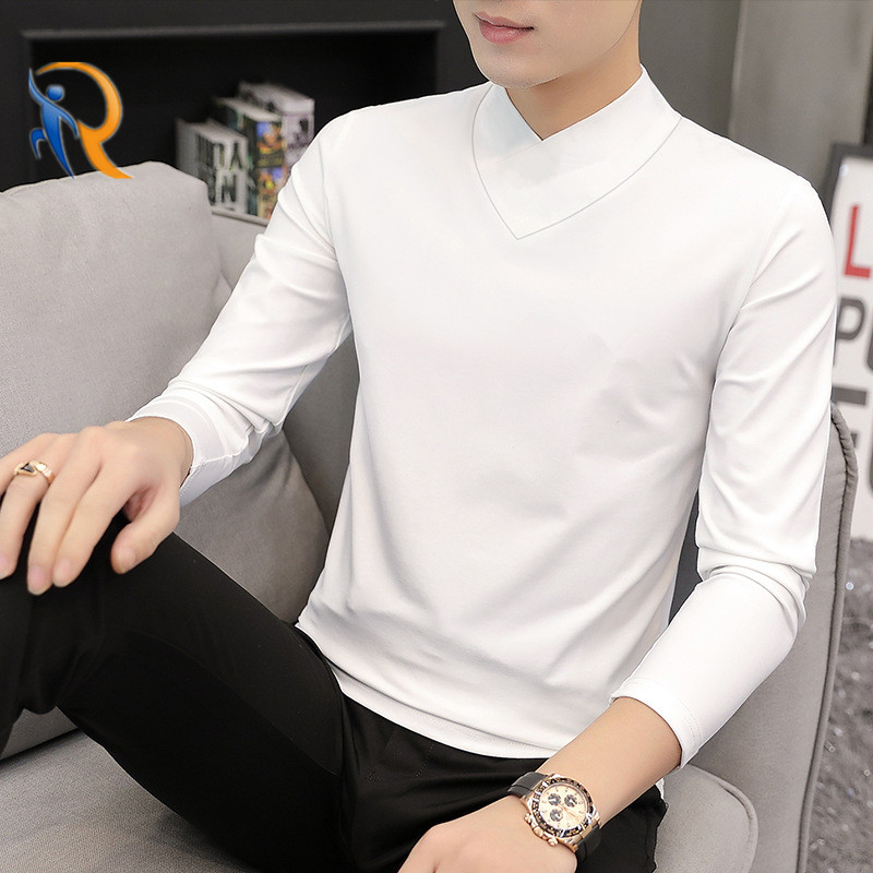 product-Ruiteng-Mens V-Neck Modal-Cotton Long-Sleeved Comfy Soft Handfeel Shirt Jkt-190-img