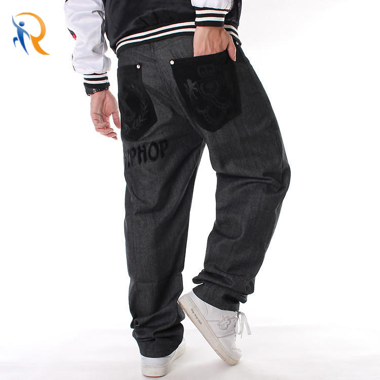 China Professional Mens Street Style Hiphop Chenille Patch Jeans Factory