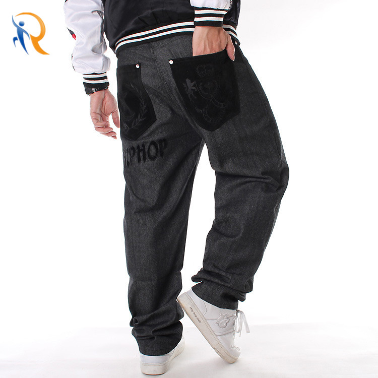 product-Ruiteng-China Professional Mens Street Style Hiphop Chenille Patch Jeans Factory-img