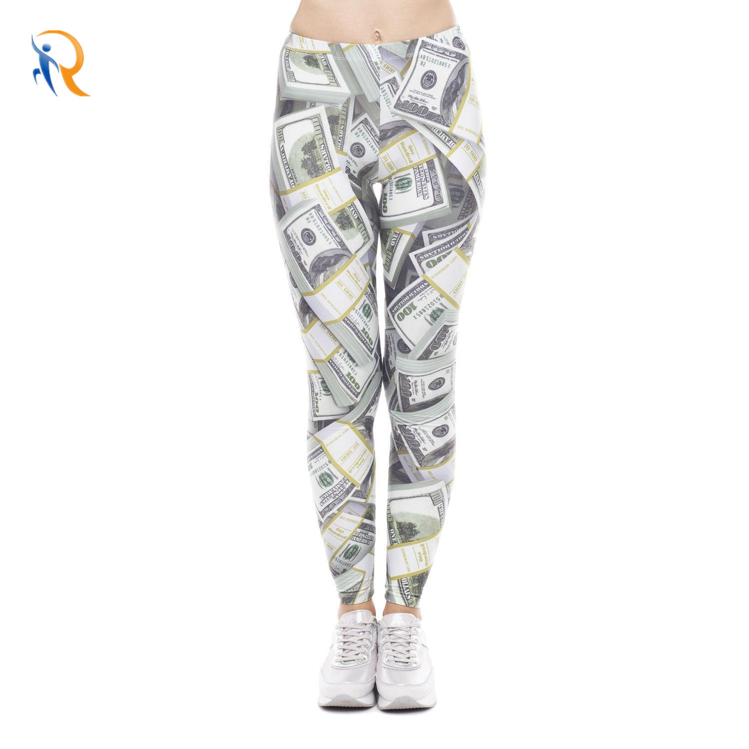 Printed Cropped Trousers Low Waist Sports Plus Size Leggings Women