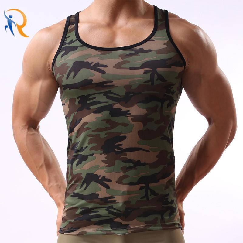 Men′s Camouflage Vest Training Uniform Sports Vest Gym Tanks