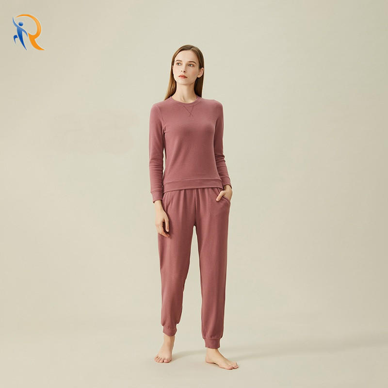 Autumn And Winter Womens Lounge Wear Warmth Home Clothes Night Wear Pajama Set JKT-269