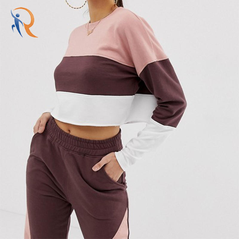 Co-ord Contrast Panel Cropped Sweat  RTC2