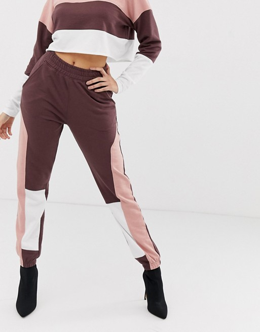 Ruiteng-Fashion Hoodies, Co-ord Contrast Panel Cropped Sweat Rtc2-2