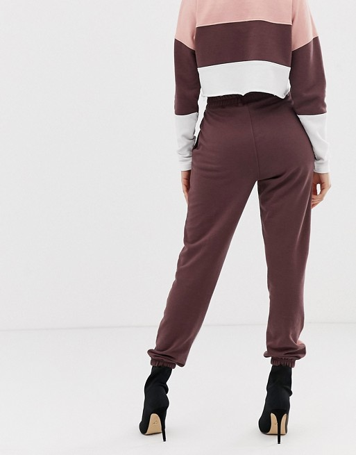 Ruiteng-Fashion Hoodies, Co-ord Contrast Panel Cropped Sweat Rtc2-1