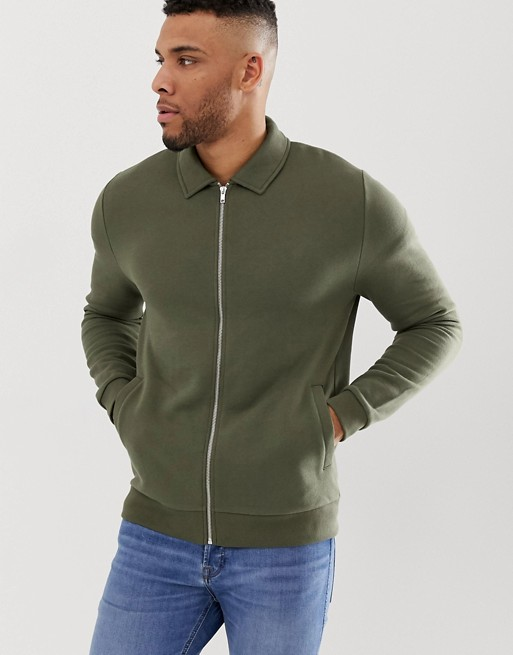 Ruiteng-Fashion Hoodies Manufacture | Man Jersey Fitted Harrington Jacket -rtc3