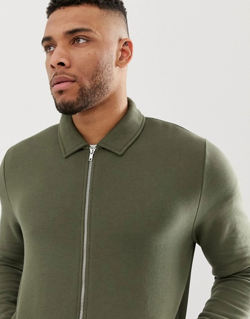 Ruiteng-Fashion Hoodies Manufacture | Man Jersey Fitted Harrington Jacket -rtc3-3