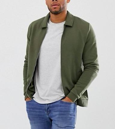 Ruiteng-Fashion Hoodies Manufacture | Man Jersey Fitted Harrington Jacket -rtc3-4