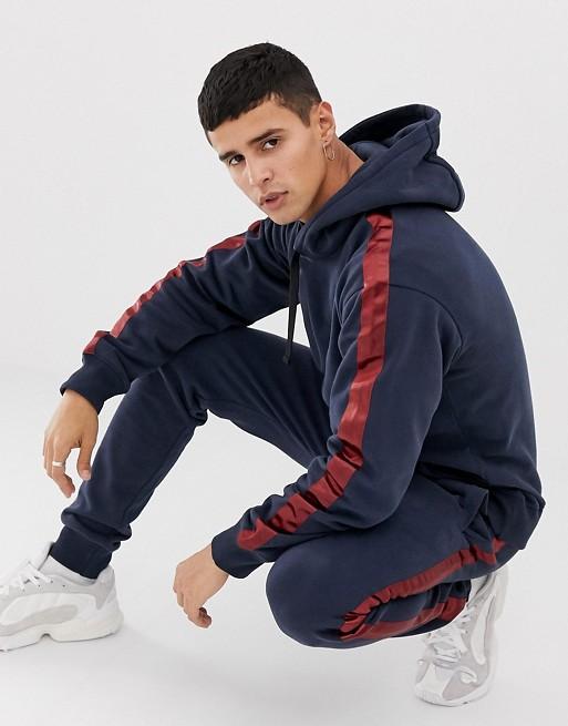 Ruiteng-Fashion Hoodies Mens Originals Tracksuit With Leg Stripe In Slim Fit Rtc4