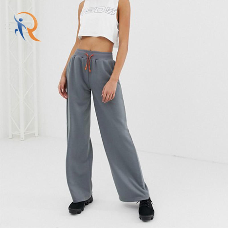 casual comfortable wide long jogger women running sweat pants RTC16