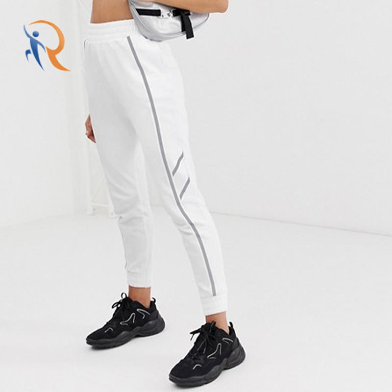 womens unique tracksuit sport jogger with reflective tape RTC 20
