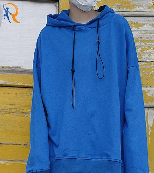 Hoodies solid color loose-fitting and fleece hoodie male and female couple