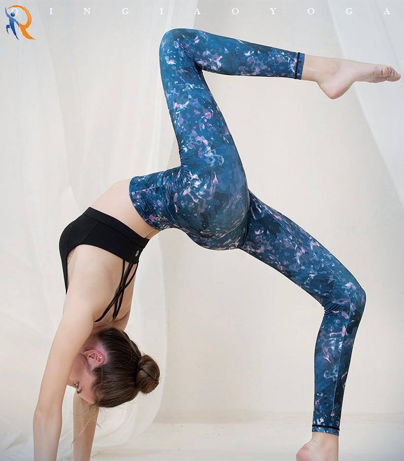New style yoga clothes, fashionable print, elastic, thin, buttock lifting, quick-drying, running and fitness pants