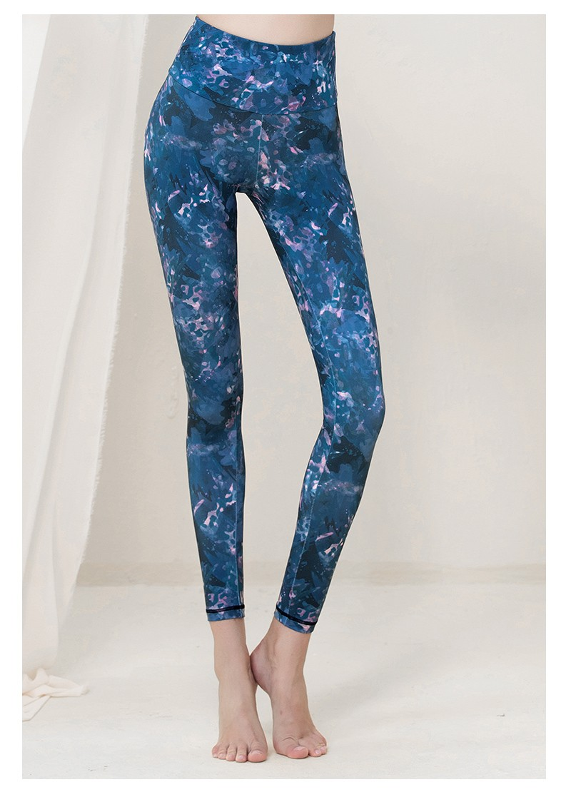 product-New style yoga clothes, fashionable print, elastic, thin, buttock lifting, quick-drying, run