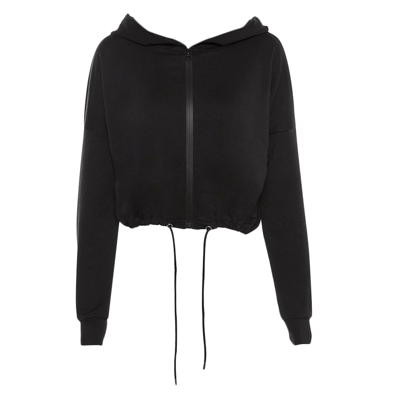 product-Ruiteng-The new long-sleeved, loose-fitting, slimmed-down, solid-color, low-waisted, hooded,
