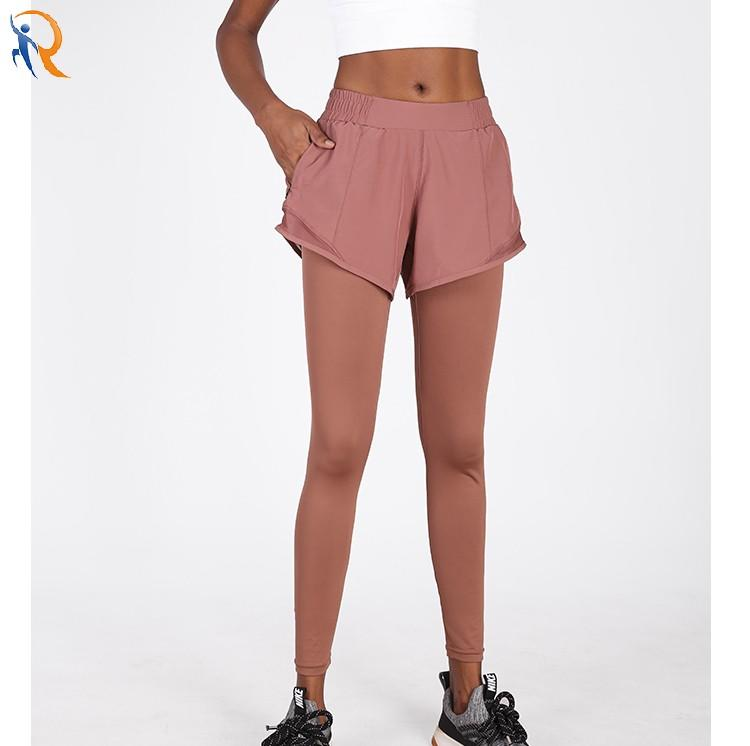Outdoor quick dry running vacation two pairs of shorts, leggings, women's tight yoga pants, stretch gym pants
