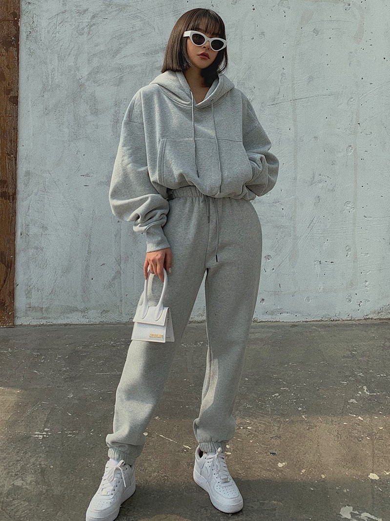 product-Ruiteng-New style sports loose casual hoodie suit-img