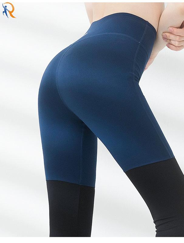 Yoga pants female foot  foot winter tight stretch professional sportswear high-waisted buttock non-trace wear fitness pants