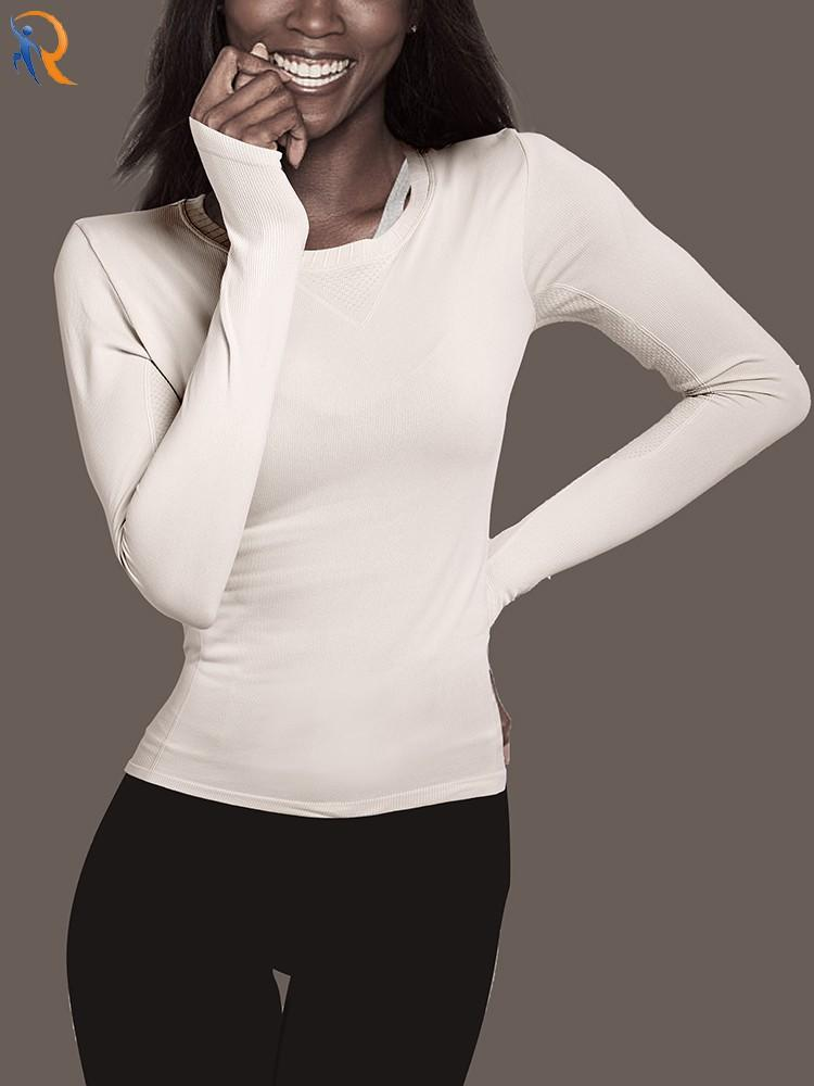 Stretch yoga suit T-shirt long-sleeved leotard tights for running slim, quick dry workout clothes