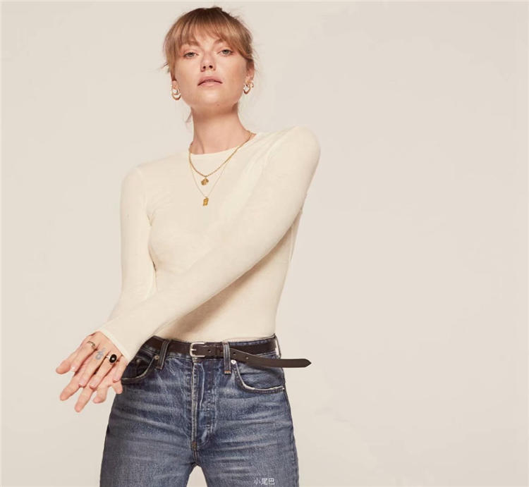 blouse round collar long sleeve solid color thread undergarment