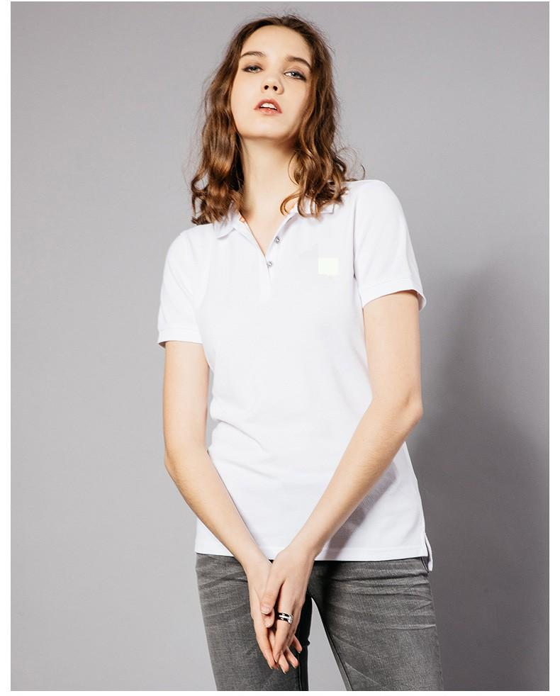 Summer lady plain lapel embroidered short sleeve