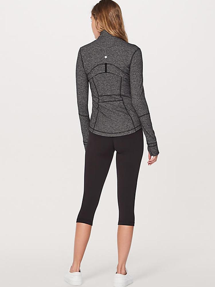 product-Autumn winter fitness wear womens jacket running blazer yoga long sleeve jacket-Ruiteng-img