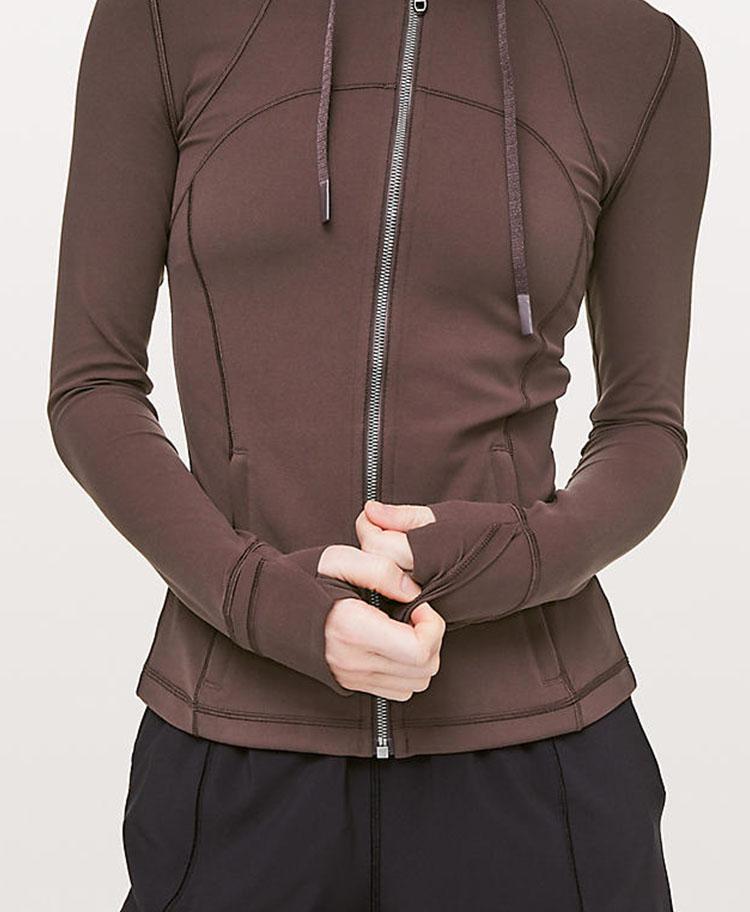 product-Ruiteng-Autumnwinter womens blazer with hat yoga gym long sleeve jacket-img