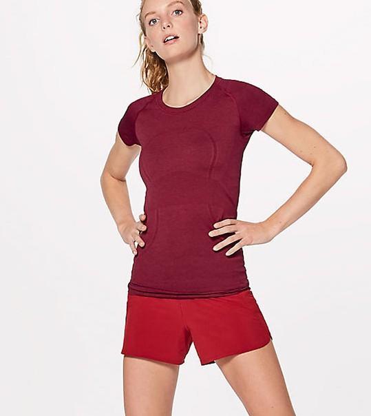 Women's short-sleeved, round neck T-shirt fitness running yoga top