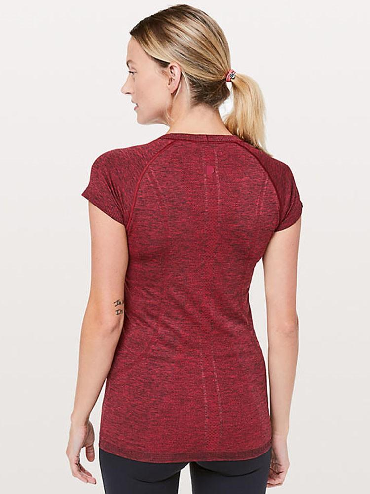 product-Ruiteng-Womens short-sleeved, round neck T-shirt fitness running yoga top-img