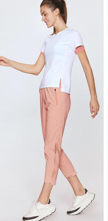 Ladies 'quick - dry knot hollowed-out woven 9 - minute trousers