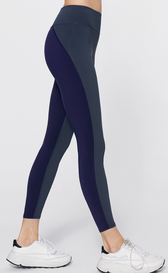 product-Ruiteng-Clashing color hollow belt mid-waist quick dry yoga fitness leggings female-img