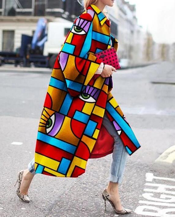product-Fashion Geometric Color Printed Coat RTM-285-Ruiteng-img