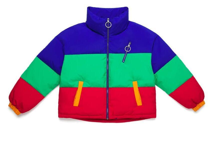 Color block padded jacket RTM-284